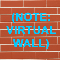 (NOTE: VIRTUAL WALL) brick wall