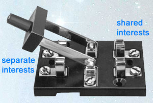 Knife Switch: separate interests vs. shared interests