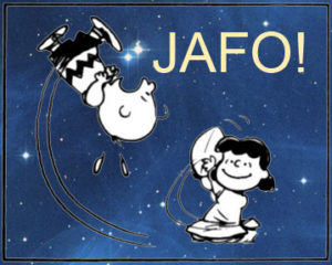 JAFO - forgiveness opportunity (football metaphor)