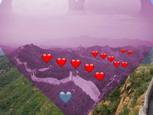 Great wall of China ... and hearts